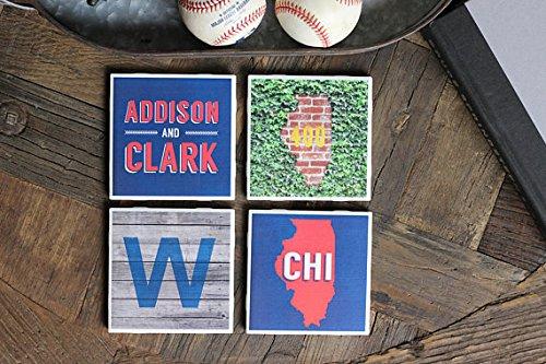 Chicago/Chicago Coasters/Chicago Gift/Chicago Coaster/Windy City/Chicago Decor/Chicago Baseball/Wrigley/Addison/Clark CHI ()