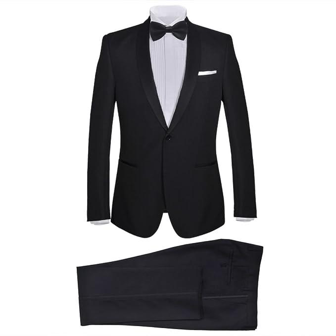 0f83fd6c3f0da vidaXL Esmoquin Traje de Gala Elegante con corbatín para Hombre Negro 2  Piezas  Amazon.es  Ropa y accesorios