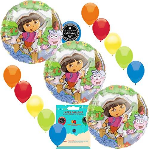 Dora The Explorer See Thru Party Supplies Balloon Decoration Bundle ()