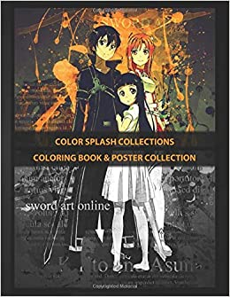 Coloring Book Poster Collection Color Splash Collections Kirito