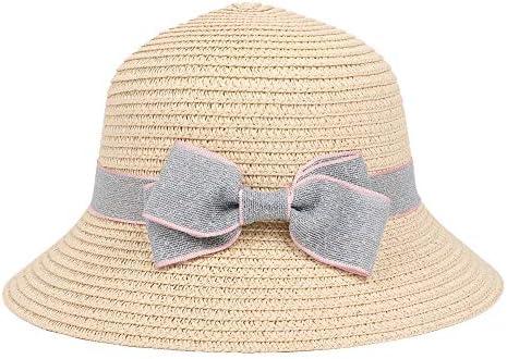NANSHENGXIAOCUN Sun Protection Childrens hat Sun hat Spring Summer Fisherman hat Sun hat Bow Childrens Straw hat