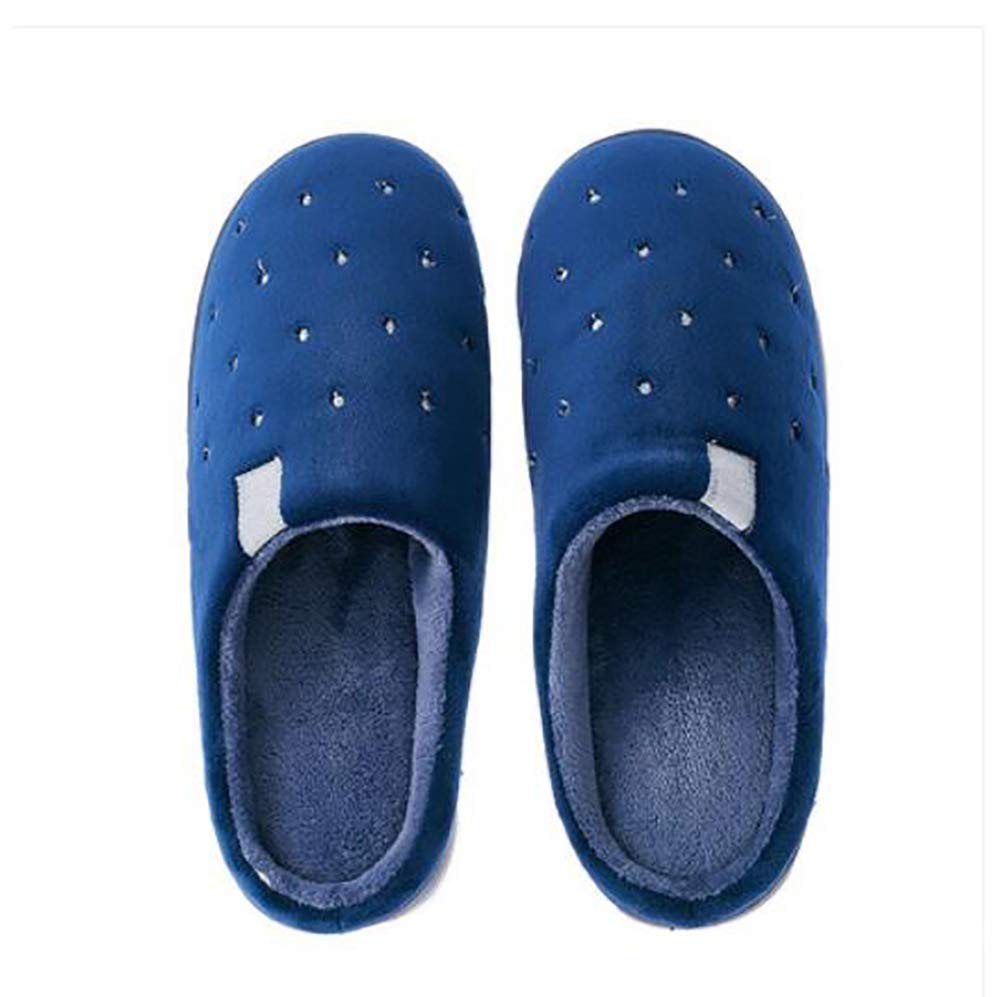 Oudan Winter Home Slippers Shoes Thicken Keep Warm Indoor Casual Cotton Slippers for Women//Men Color : Darkblue, Size : 38//39 Darkblue 42//43
