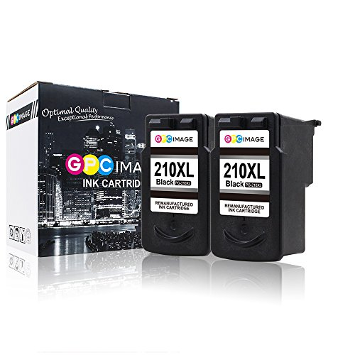 GPC Image Remanufactured Ink Cartridge Replacement for Canon PG 210XL PG210 (2 Black) for Canon PIXMA iP2702 MX410 MP495 MP480 MP490 MX320 MX330 MX340 MX350 MX420 MP250 MP280 MP240 Printer