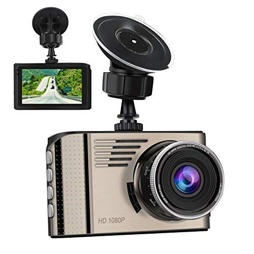 "Dash Cam,3.0"" LCD Screen Full HD1920X1080P Car Dashboard Camera Recorder 170degree Wide-Angle Built-in G-Sensor Super Night Vision,WDR,Motion Detection,Loop Recording&Parking Monitor"