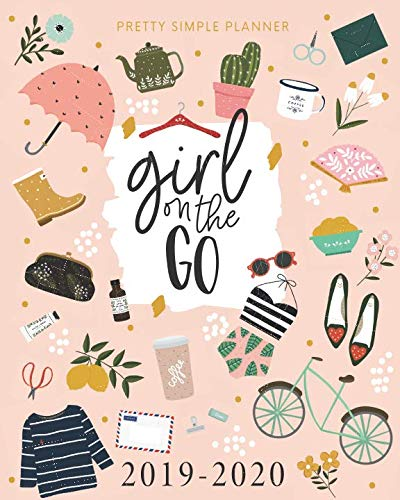 "Pretty Simple Planners Weekly and Monthly ""Girl On The Go"" Planner: Calendar Schedule + Organizer 