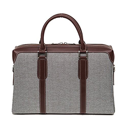 CustomHomme Men's Multi-Compartment Briefcase One Size Gray