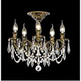 Elegant Lighting French Gold 9205F18FG-GT/SS Rosalia