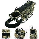 Yisibo Tactical Dog Molle Vest Harness Training Dog Vest...