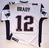 Tom Brady Autographed Signed Patriots Reebok On -Field Authentic White Jersey 52 Tsp Bas