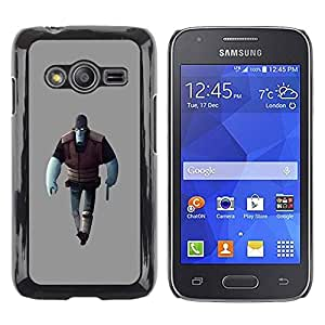 Slim Design Hard PC/Aluminum Shell Case Cover for Samsung Galaxy Ace 4 G313 SM-G313F Blue Man Game Character Alien Art 3D Figure / JUSTGO PHONE PROTECTOR