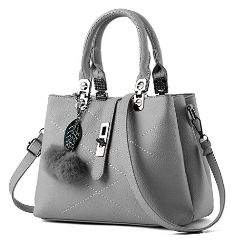 hydne-womens-elegant-fashionable-gentelwomanly-maple-leaf-buckle-large-capacity-handbaggrey