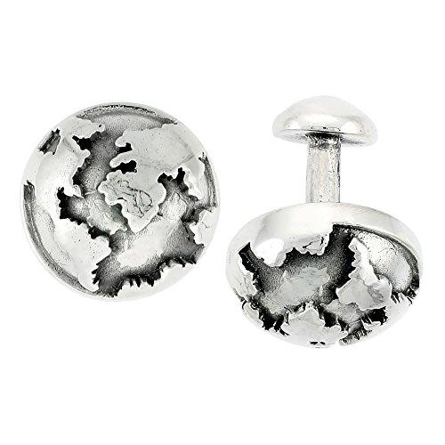 Sterling Silver Globular Cufflinks, 11/1 - Silver Sterling Silver Globe Shopping Results