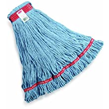 Rubbermaid Commercial Web Foot Blend Mop, Large, Blue, FGA11306BL00