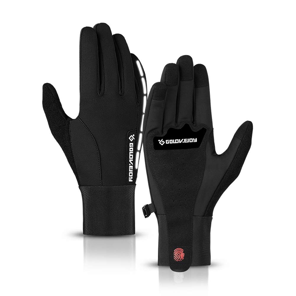 AINIYF Full Finger Gloves | Cycling Men's Winter Warm And Cold Outdoor Sports Smart Gloves Full Finger Outdoor Female Handsome Touch Screen Windproof Skid Motorcycle Shock Absorbing