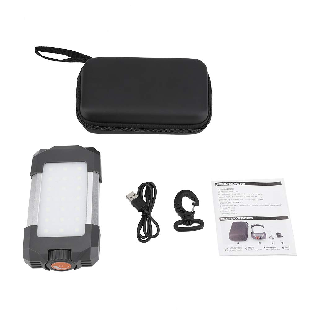Riuty LED Rechargeable Camping Lamp, Adjustable Power Bank USB Lantern Outdoor Night Light