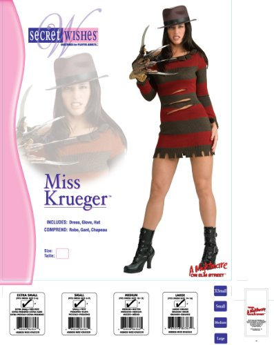 Rubie's Secret Wishes Miss Krueger Costume, Red, L (10) - http://coolthings.us