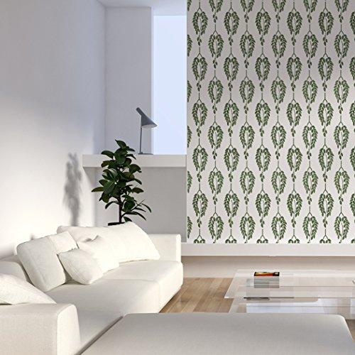 J BOUTIQUE STENCILS Plants Wall Stencil Bessie Allover Wall Stencil for Easy DIY Wallpaper Decor