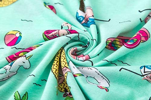 Women Pajama Set Sleepwear Tops with Capri Pants Casual and Fun Prints Pajama Sets