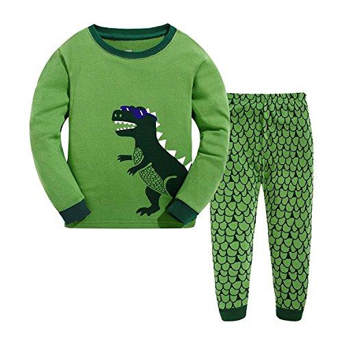 Garsumiss Toddler Pajamas Boys Pjs Sets Kids Dinosaur Cotton Clothes Sleepwears Green ()