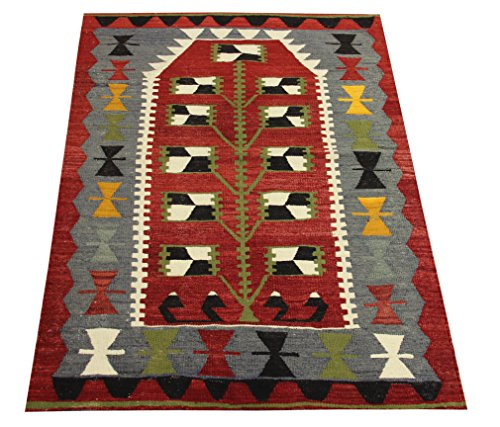 Decorative Small Kilim rug 4,1x2,8 feet Area rug Old rug Nomadic Kilim Rug Throw kilim rug Floor Kilim Rug Turkish Rugs Room Decor