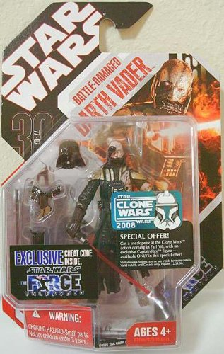 Star Wars DARTH VADER BATTLE DAMAGED Force Unleashed Action Figure 30th Anniversary