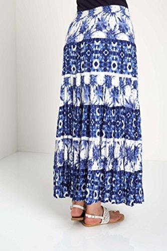 Originals Marine Bohme Maxi Ethnique Gitane Roman Longues Jupe Ete Printemps Confortable Longue Vacances Croisire Motif Bleu Femme Bleu Romans TAxx8d