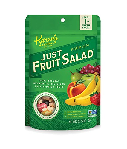 Karen's Naturals Just Fruit Salad, 2 Ounce Pouch (Packaging May Vary) All Natural Freeze-Dried Fruits & Vegetables, No Additives or Preservatives, Non-GMO