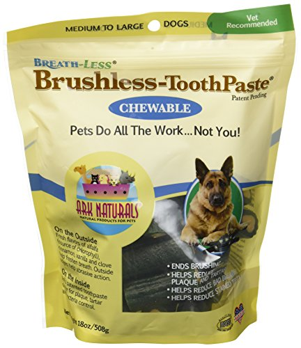 Brushless Toothpaste Chewable (ARK NATURALS (3 Pack) Breath-Less Chewable Brushless Toothpaste, Medium/Large - 18oz Bags)