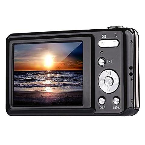 Digital Camera,Bigaint BG007 2.7' TFT 1280x720 5X Optical Zoom 15MP HD Anti-shake Smile Capture Digital Video (Jvc Everio Sd Card)