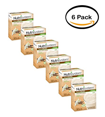 PACK OF 6 - Nutrisystem NutriCRUSH Vanilla Shake Mix, 1.4 oz, 5 count by Nutrisystem