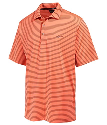 Greg Norman Mens 5-Iron Rugby Polo Shirt, Orange, Small