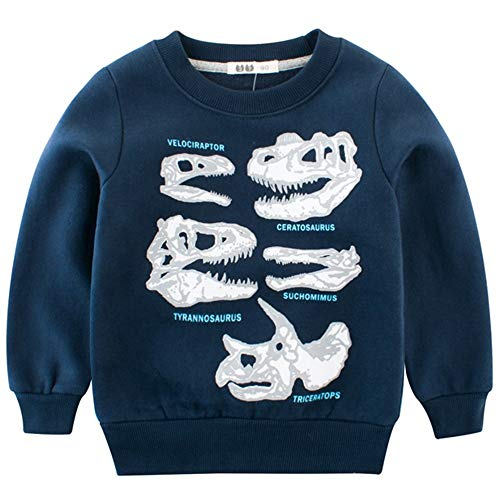 4dd152a7d BesserBay Boys Shirts Toddler Long Sleeve Top Kids Football Tee ...
