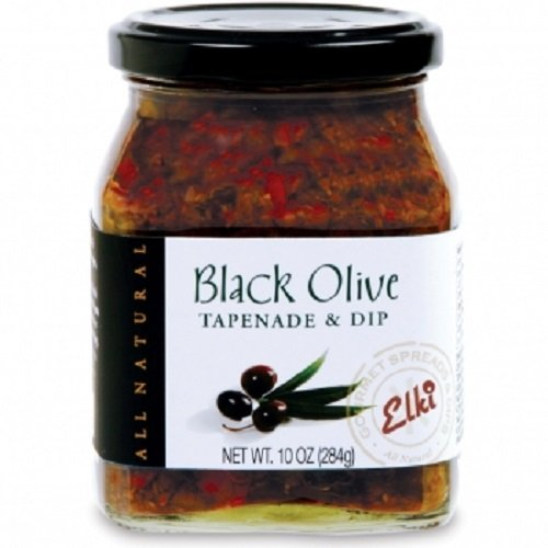 Olive Cheese Spread - Gourmet Black Olive Tapenade Spread - Perfect for Grilled Meat, Pizza, Crackers, Salad or Garnishing | Gluten-Free | Non-GMO Low Calories | All-Natural Ingredients | 10 Ounce by World Market