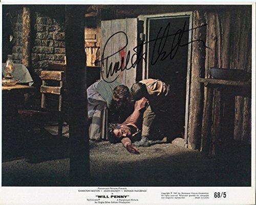 Charlton Heston Will Penny Original Movie Press Still Signed Autograph Photo