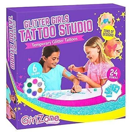 Amazon GirlZone Temporary Glitter Tattoos Kit Including 33