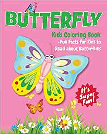Butterfly Kids Coloring Book +Fun Facts for Kids to Read about ...