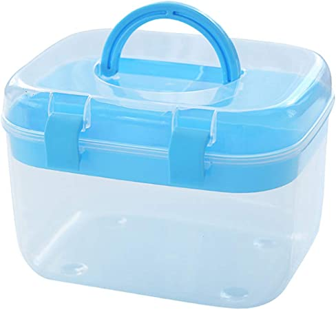 QXTT Botiquin De Primeros Auxilios Botiquin Medicamentos Botiquín Metalico Caja De Primeros Auxilios Organizadora De Plástico Pequeña con Tapa,Blue: Amazon.es: Hogar