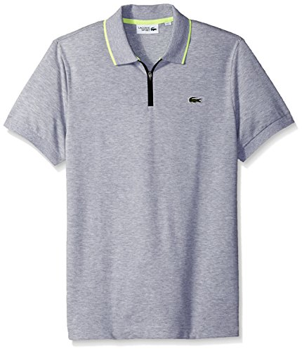 Lacoste Mens Short Sleeve Super Light Graphic Collar Polo, YH3336