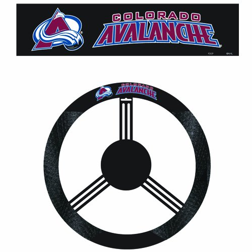 - Fremont Die NHL Colorado Avalanche Poly-Suede Steering Wheel Cover