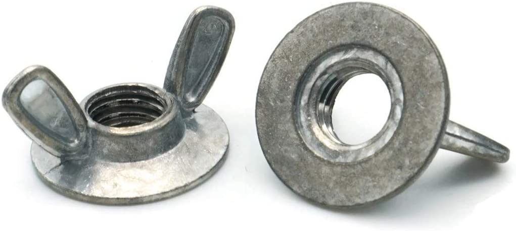 Flanged Wing Nuts Washer Base Wing Nuts Die Cast Zamak 3 Zinc Alloy #10-32 Qty 250 Sizes #8-32 Through 3//8-16