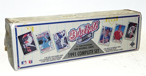 1991 Upper Deck MLB Baseball Cards Complete Factory Set (800 (Upper Deck Football)