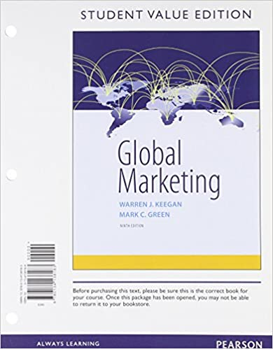Global marketing student value edition 9th edition warren j global marketing student value edition 9th edition 9th edition by warren j keegan fandeluxe Images