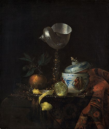 "Willem Kalf : ""Still Life with Nautilus Cup"" (1665/1670) - Giclee Fine Art Print"