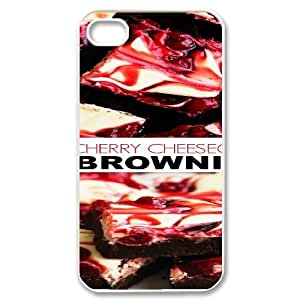 Qxhu Cake Hard Plastic Cover Case for Iphone4,4S