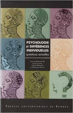 Psychologie et différences individuelles: Questions actuelles pdf epub