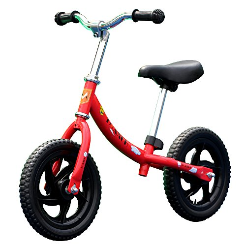 Tmaxch Balance Bike for Kids and Toddlers, 12'' Classic Run Bikes Training Bike Without Pedal for Boys and Girls (Red) by Tmaxch