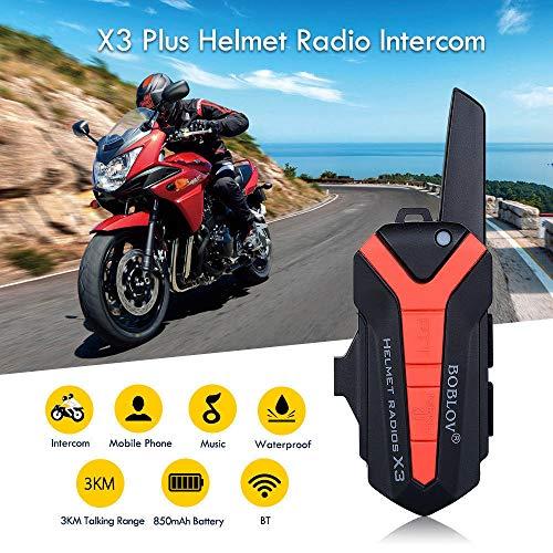 (X3 Plus 4KM 462 Mhz 16CH Outdoor Bicycle Motorcycle Helmet Radio walkie-Talkie)