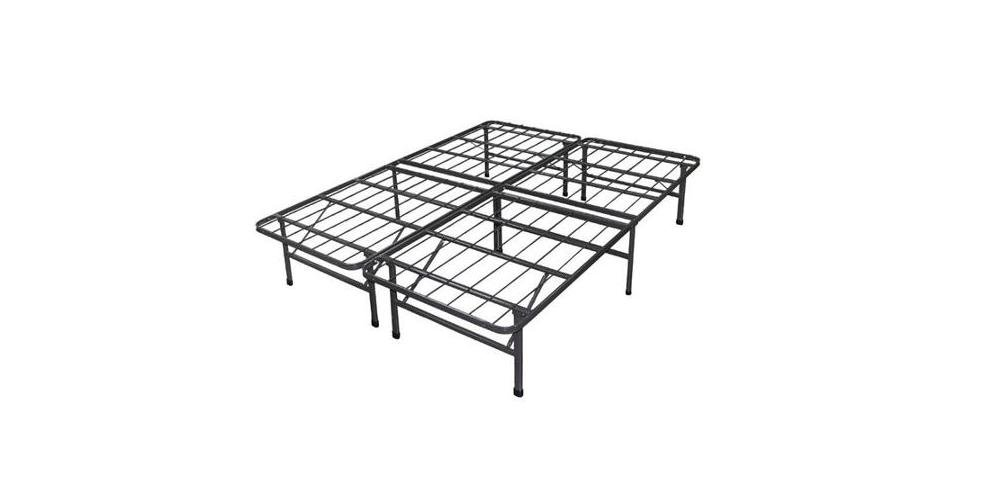 Spa Sensations Steel Smart Base Bed Frame Black, Multiple Sizes. 14 Inches High. Steel Bed Foundation with a Black Finish. Provides Level Support for Mattress for Ultimate Sleep Comfort. Flat, Rigid Surface Protects Mattress. Easy Assembly Without Tools.