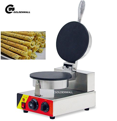 CGOLDENWALL NP-692 Commercial Ice Cream Cone Maker Non-stick Egg Roll Machine Egg Crepes Waffle Making Machine Egg-biscuit-roll Baker 110V/220V (220V)
