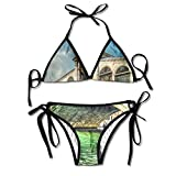 Rialto Bridge In Venice Italy Bikini Women's Summer Swimwear Triangle Top Bikinis Swimsuit Sexy 2-Piece Set